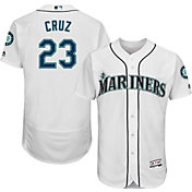 Majestic Men's Authentic Seattle Mariners Nelson Cruz #23 Home White Flex Base On-Field Jersey