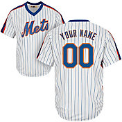 Majestic Men's Custom Cool Base Cooperstown Replica New York Mets 1969 White Jersey