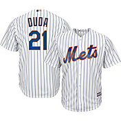 Majestic Men's Replica New York Mets Lucas Duda #21 Cool Base Home White Jersey