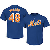 Majestic Men's New York Mets Jacob deGrom #48 Royal T-Shirt