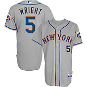 Majestic Men's Authentic New York Mets David Wright #5 Cool Base Road Grey On-Field Jersey