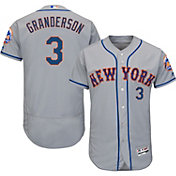 Majestic Men's Authentic New York Mets Curtis Granderson #3 Road Grey Flex Base On-Field Jersey