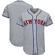 Majestic Men's Authentic New York Mets Road Grey Flex Base On-Field Jersey