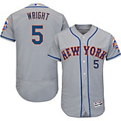 Majestic Men's Authentic New York Mets David Wright #5 Road Grey Flex Base On-Field Jersey