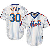 Majestic Men's Replica New York Mets Nolan Ryan Cool Base White Cooperstown Jersey