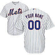 Majestic Men's Custom Cool Base Replica New York Mets Home White Jersey