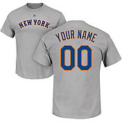 Majestic Men's Custom New York Mets Grey T-Shirt