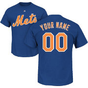 Majestic Men's Custom New York Mets Royal T-Shirt