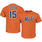 Majestic Men's New York Mets Tim Tebow #15 Orange T-Shirt