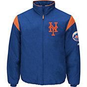 Majestic Men's New York Mets Therma Base Royal On-Field Premier Jacket