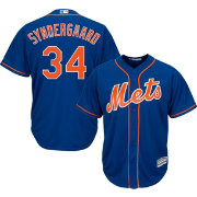 Majestic Men's Replica New York Mets Noah Syndergaard #34 Cool Base Alternate Home Royal Jersey
