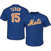 Majestic Men's New York Mets Tim Tebow #15 Royal T-Shirt