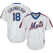 Majestic Men's Replica New York Mets Darryl Strawberry Cool Base White Cooperstown Jersey