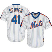 Majestic Men's Replica New York Mets Tom Seaver Cool Base White Cooperstown Jersey