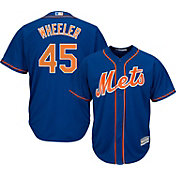 Majestic Men's Replica New York Mets Zack Wheeler #45 Cool Base Alternate Home Royal Jersey