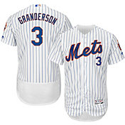 Majestic Men's Authentic New York Mets Curtis Granderson #3 Home White Flex Base On-Field Jersey
