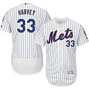 Majestic Men's Authentic New York Mets Matt Harvey #33 Home White Flex Base On-Field Jersey