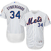 Majestic Men's Authentic New York Mets Noah Syndergaard #34 Home White Flex Base On-Field Jersey