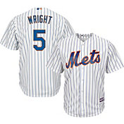 Majestic Men's Replica New York Mets David Wright #5 Cool Base Home White Jersey