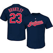 Majestic Men's Cleveland Indians Michael Brantley #23 Navy T-Shirt