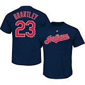 Majestic Triple Peak Men's Cleveland Indians Michael Brantley Navy T-Shirt