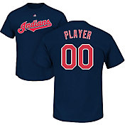 Majestic Men's Full Roster Cleveland Indians Navy T-Shirt