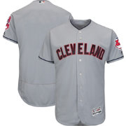 Majestic Men's Authentic Cleveland Indians Road Grey Flex Base On-Field Jersey