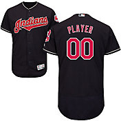 Majestic Men's Full Roster Authentic Cleveland Indians Flex Base Alternate Navy On-Field Jersey