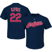Majestic Triple Peak Men's Cleveland Indians Jason Kipnis Navy T-Shirt