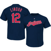 Majestic Men's Cleveland Indians Francisco Lindor #12 Navy T-Shirt
