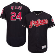 Majestic Men's Authentic Cleveland Indians Andrew Miller #24 Alternate Navy Flex Base On-Field Jersey