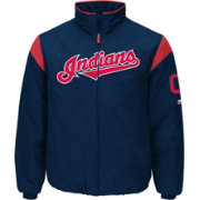 Majestic Men's Cleveland Indians Therma Base Navy On-Field Premier Jacket
