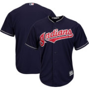 Majestic Men's Replica Cleveland Indians Cool Base Alternate Navy Jersey
