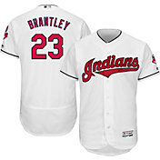 Majestic Men's Authentic Cleveland Indians Michael Brantley #23 Home White Flex Base On-Field Jersey
