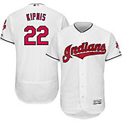 Majestic Men's Authentic Cleveland Indians Jason Kipnis #22 Home White Flex Base On-Field Jersey