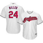 Majestic Men's Replica Cleveland Indians Andrew Miller #24 Cool Base Home White Jersey