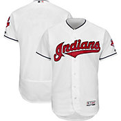 Majestic Men's Authentic Cleveland Indians Home White Flex Base On-Field Jersey