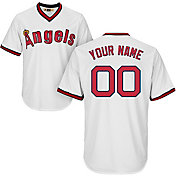 Majestic Men's Custom Cool Base Cooperstown Replica Los Angeles Angels White Jersey