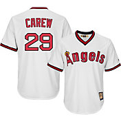 Majestic Men's Replica California Angels Rod Carew Cool Base White Cooperstown Jersey