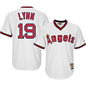 Majestic Men's Replica California Angels Fred Lynn Cool Base White Cooperstown Jersey