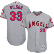 Majestic Men's Authentic Los Angeles Angels C.J. Wilson #33 Road Grey Flex Base On-Field Jersey