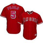 Majestic Men's Replica Los Angeles Angels Albert Pujols #5 Cool Base Alternate Red Jersey