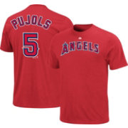 Majestic Triple Peak Men's Los Angeles Angels Albert Pujols Red T-Shirt