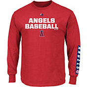 Majestic Men's Los Angeles Angels Proven Pastime Red Long Sleeve Shirt