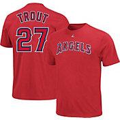 Majestic Triple Peak Men's Los Angeles Angels Mike Trout Red T-Shirt