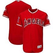 Majestic Men's Authentic Los Angeles Angels Alternate Red Flex Base On-Field Jersey