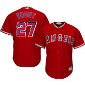 Majestic Men's Replica Los Angeles Angels Mike Trout #27 Cool Base Alternate Red Jersey