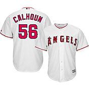 Majestic Men's Replica Los Angeles Angels Kole Calhoun #56 Cool Base Home White Jersey