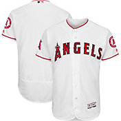 Majestic Men's Authentic Los Angeles Angels Home White Flex Base On-Field Jersey