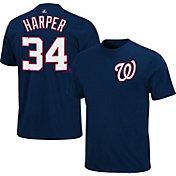 Majestic Triple Peak Men's Washington Nationals Bryce Harper Navy T-Shirt